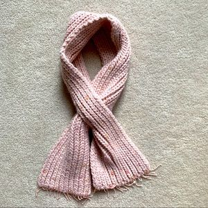 Pink Acrylic Scarf with sequins and beads